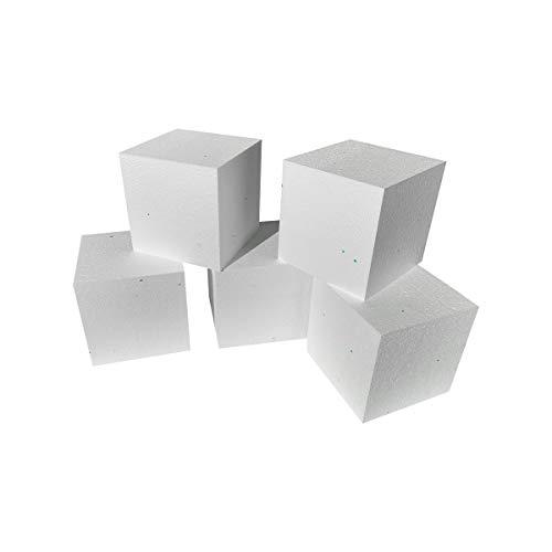 Styropor - Würfel - 20 Stück - 5 cm x 5 cm x 5 cm - Modellbauwürfel - Bastelwürfel
