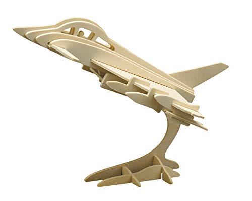 Pebaro 866/4 Holzbausatz 3D Puzzle Eurofighter