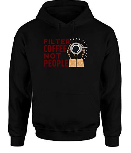 tshirtladen Filter Coffee Not People Hoodie Unisex Spruchhoodie, Farbe: Schwarz, Größe: XXX-Large