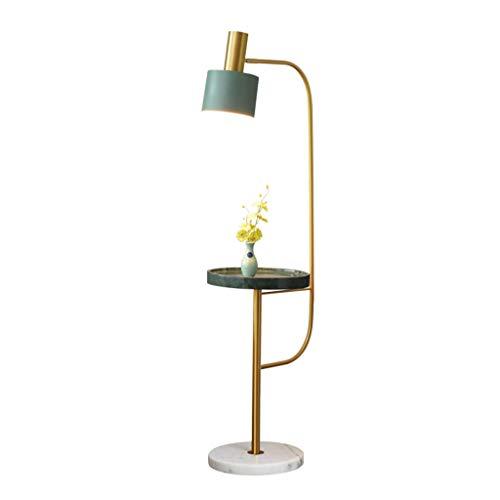 Lampes de chevet Lampadaire Salon Canapé Chambre Simple Américain Moderne Table Basse Marbre Vertical Lampe De Table (Color : Green, Size : 40 * 153cm)
