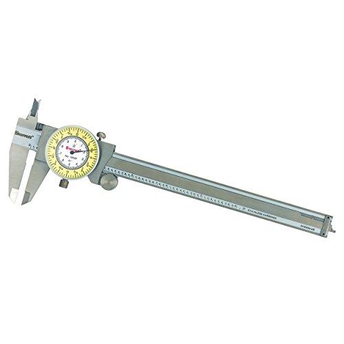 Starrett Stainless Steel White/Yellow Dial Caliper 0-6' Fractional Range