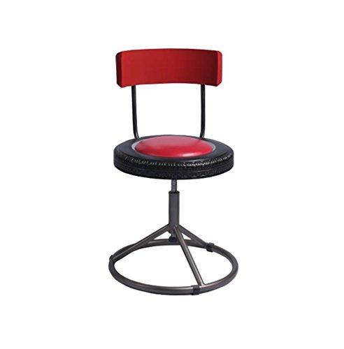 ZRXian-Barhocker Mode Amerikanischen Retro Bar Stühle Drehstuhl Hocker Eisen Kunst Persönlichkeit Esszimmerstuhl