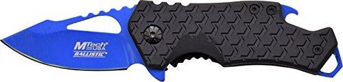 MTech USA Couteau de Poche, Version Bleue, Longueur fermé en cm : 7.62, mtec de 1362