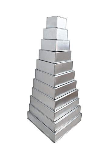 Euro Tins 11 moules carrés F ? R mehrst ? ckige gâteau de Mariage – 11 pièces
