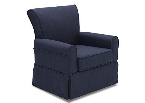 Delta Children Upholstered Glider Swivel Rocker Chair, Sailor Blue
