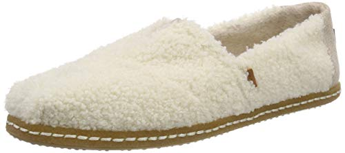TOMS Natural Plush Shearling Women's Classics Slip-On Shoes (7.5 B US)