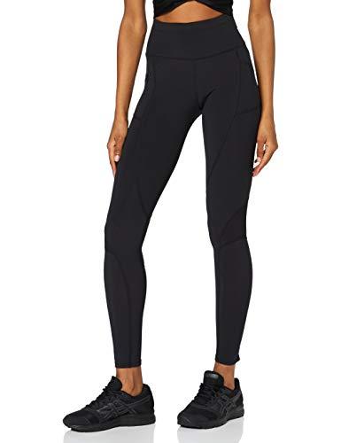 Amazon-Marke: AURIQUE Damen Thermo Lauf-Leggings, Schwarz (Black), 34, Label:XS