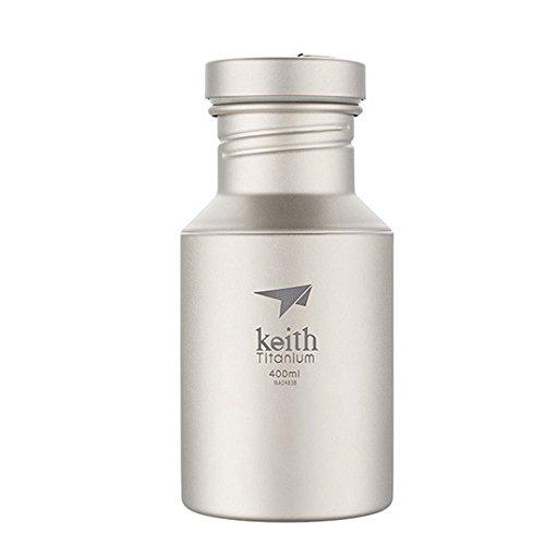Goodworldtrade Keith Starke und leichte Titan Wasserflasche mit Titan Deckel (400ml/13.5oz)