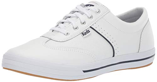 Keds Women's COURTY CORE Leather Sneaker, White, 11