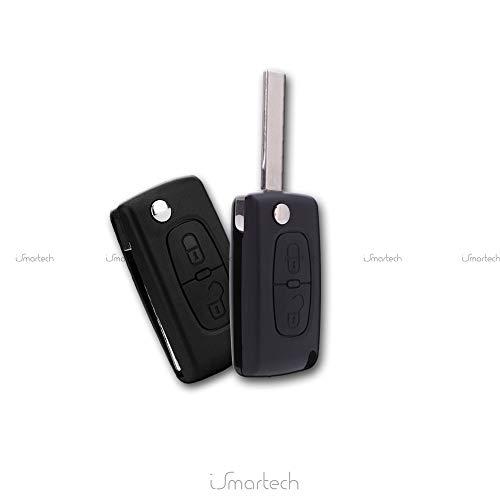 2 Boton Carcasa del mando para PEUGEOT 206 107 207 307 407 CITROEN C2 C3 C4 C5 C6