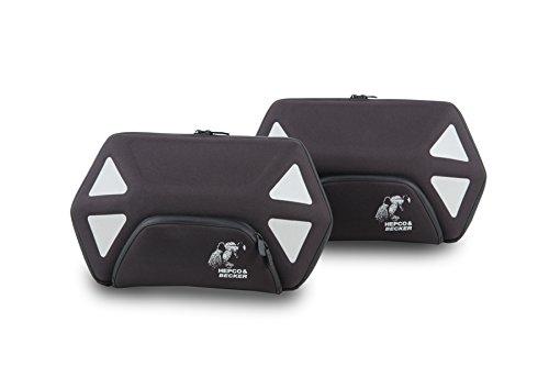 H&B Motorrad Satteltaschen für Motorrad Taschen Seitentaschenpaar Royster 24 Liter für C-Bow schwarz/grau, Unisex, Multipurpose, Ganzjährig, Polyester