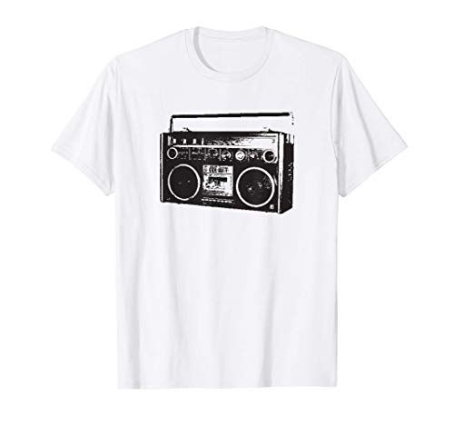 Old School Vintage Tape Deck Boombox Graphic T Shirt T-Shirt