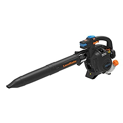 LawnMaster NPTBL26A No-Pull Handheld Blower 2 Cycle 26cc, Orange, Black