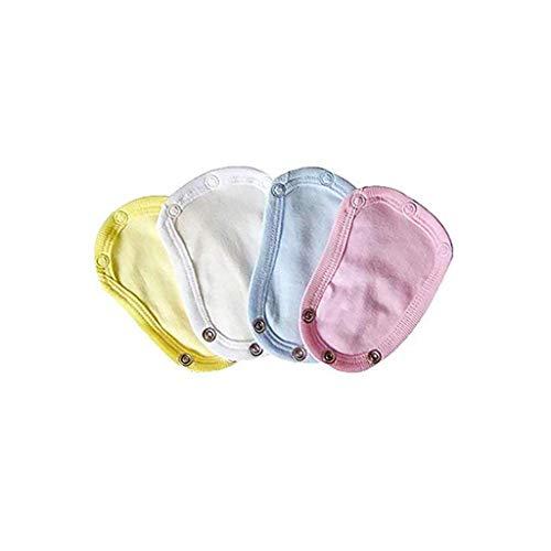 Uteruik Baby Weast/Body Suit Extender, Universal Soft Jumpsuit Extend Film für Baby Jungen und Mädchen Säugling Kleinkind Kleidung, 4 Stück