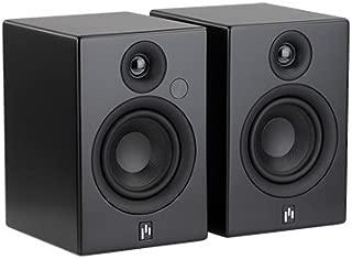 Aperion Audio Allaire Powered Bluetooth Computer Desktop Speakers, 2.0 Active Near Field Monitors, Studio Monitor Speaker, Wooden Enclosure (Pair Stealth Black)