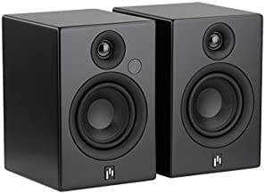 Aperion Audio Allaire Powered Bluetooth Computer Desktop Speakers, 2.0 Active Near Field Monitors, Studio Monitor Speaker, Wooden Enclosure (Pair Stealth Black)