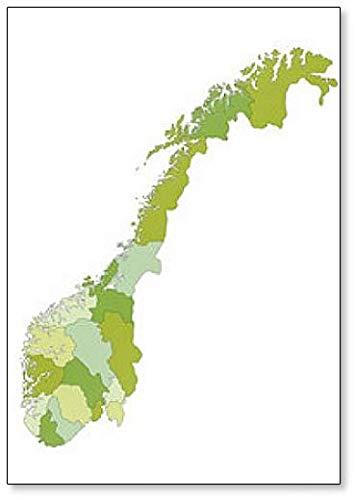 Mapa político de Noruega – Imán clásico para nevera