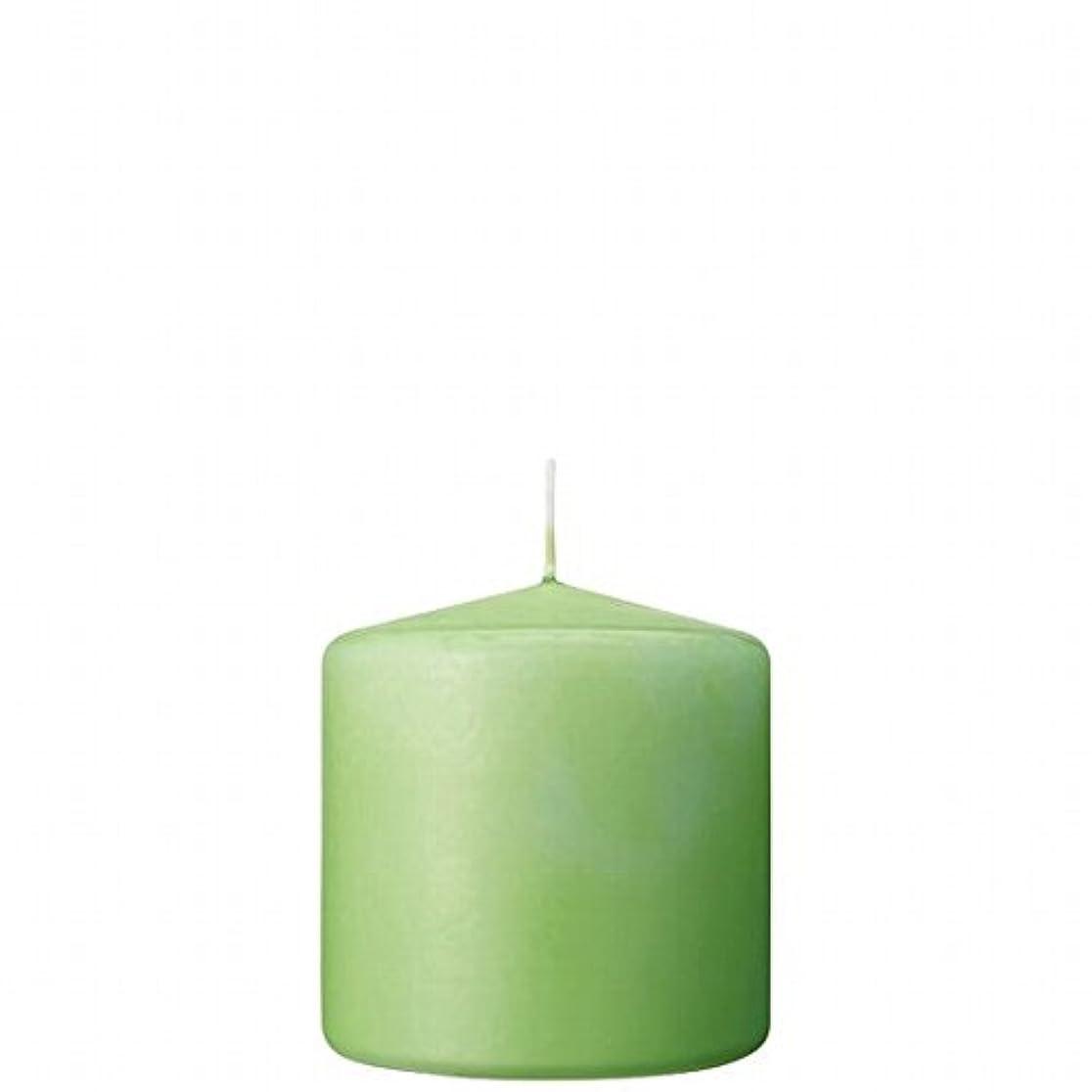 力欠如愛情カメヤマキャンドル(kameyama candle) 3×3ベルトップピラーキャンドル 「 ライム 」