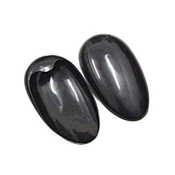20PCS/10Pairs Black Plastic Ear Covers Shield For Hair Dye Professional Salon Hairdressing Dye Coloring Ear Protect Waterproof Bathing Spa Ear Pad Cover Earshield Barber Kit Accessories