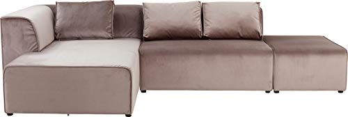 Kare Sofa Infinity Velvet Taupe Links, Grau, One Size