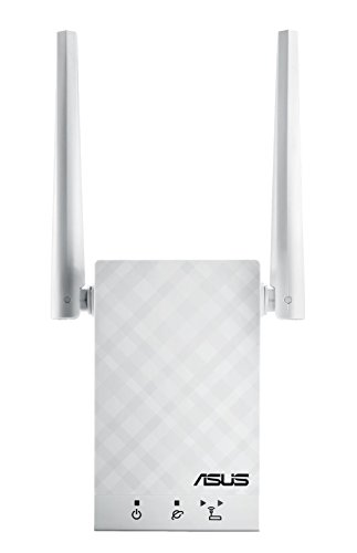 Asus AC1200 Dual-Band WiFi Range Extender Wireless Signal Booster Up to 1167Mbps Repeater | Access Point | Media Bridge | Support Aimesh (RP-AC55),White