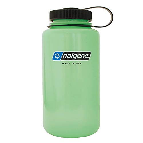 NALGENE ナルゲン 広口 1.0L TRITAN プラスチックボトル 水筒 MADE IN USA(91298 GLOW) ジャグキャップ登山 サイズ