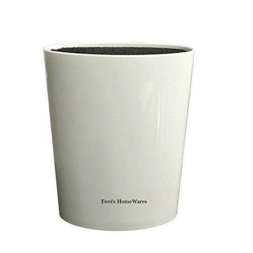 Ewei\'s HomeWares Universal-Messerblock, Advanced Messeraufbewahrung, Messertasche weiß