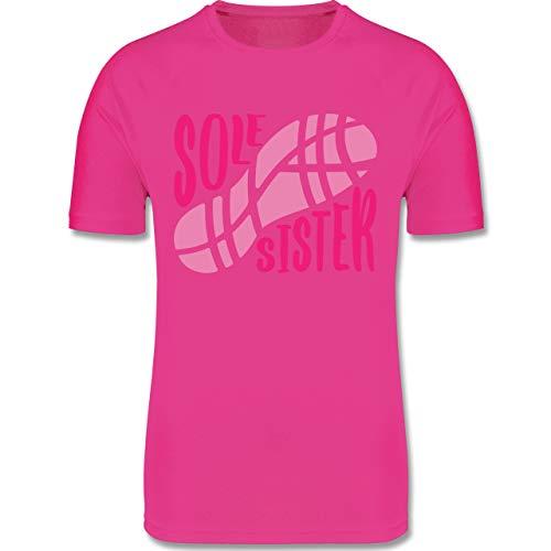 Sport Kind - Sole Sister - 116 (5/6 Jahre) - Fuchsia - Sportshirt mädchen - F350K - atmungsaktives Laufshirt/Funktionsshirt für Mädchen und Jungen