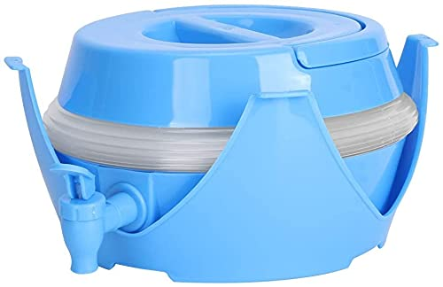 TXXM 7.5L Plegable Plegable Agua cubeta de Agua contenedor dispensador portátil Cerveza Barril Ligero diseño Ligero y Plegable