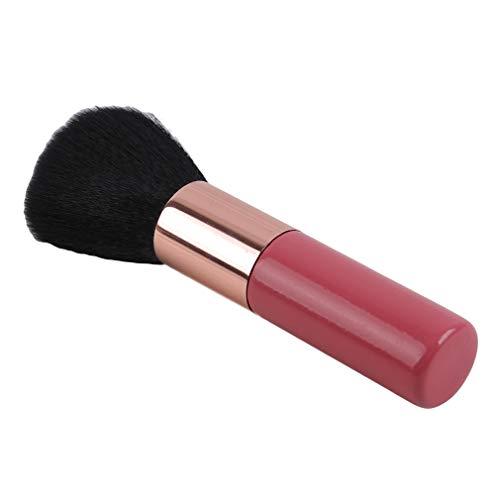 Mvude Brosse de mélange minérale grandes brosses de maquillage de voyage de poudre de visage de tête ronde