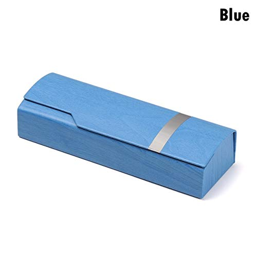1PC Unisex Caja de Gafas Portátil Moda Rectángulo Lentes de Lectura Gafas de Sol Estuche Protector Protector de Gafas - Azul