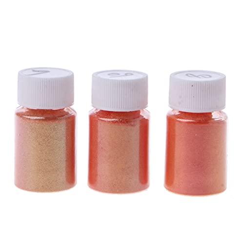 Pigmento de resina epoxi, 3 colores, para fabricación de jabón natural, colorante, polvo de perlas de arco iris, pigmento de color ForResin para joyas/bombas de baño/cosméticos/manualidades