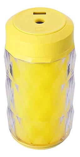 Humificador De Aire, 250ml, Ventilador Y Luz De Noche (Amarillo)