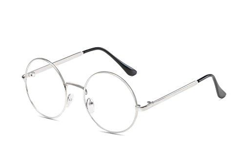 Embryform Estudiante Trendy Unisex retro claro lente gafas