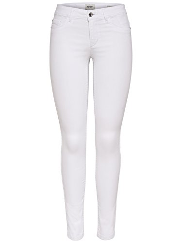ONLY Damen onlULTIMATE Soft REG. Skinny NOOS Jeanshose, Weiß (White White), 36W / 30L