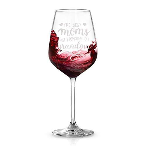 Waipfaru – The Best Moms Get Promoted to Grandma Wine Glass