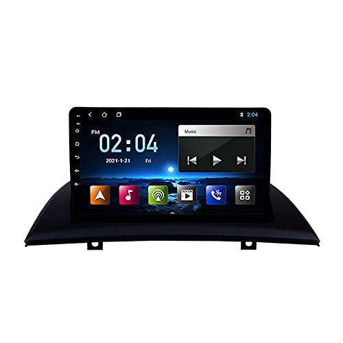 Android 10.0 Radio Stereo per B-MW X3 E83 2004-2012 Navigazione GPS Touchscreen da 9 pollici Lettore multimediale MP5 Ricevitore video con 4G WiFi SWC Carplay