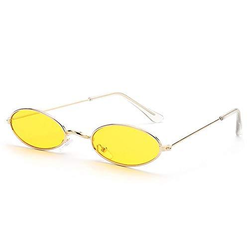 BKHBJ Gafas De Sol del Capítulo Las Gafas De Sol del Pequeño Gato Gafas De Sol UV400 De Los Ojos Sombras De Sun Glasses Gafas Calle (Color : Gold Yellow)