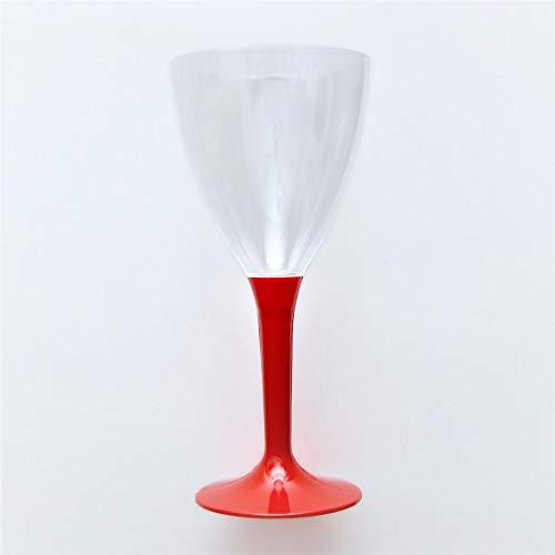 40 x Copas de vino desechable de plástico, 40 unidades | Sin BPA, rob