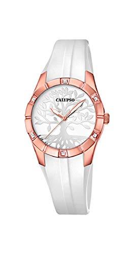 Calypso Reloj Trendy - K5716/C - Arbol de la Vida - Blanco y Oro Rosa - 32 mm