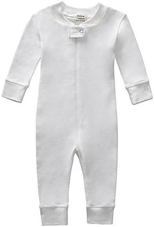 Owlivia Organic Cotton Baby Boy Girl Zip up Sleep N Play Footless Long Sleeve 18 24 Months Off product image