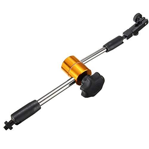 Katurn Magnetischer Metallfußhalterstand,Einstellwerkzeug-Einstellwerkzeug mit Feineinstellungsgewinde M8 für Messuhr und Hebelmessuhr