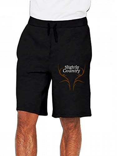 JiJingHeWang Slightly Country Logo ESP Mens Casual Shorts Pants