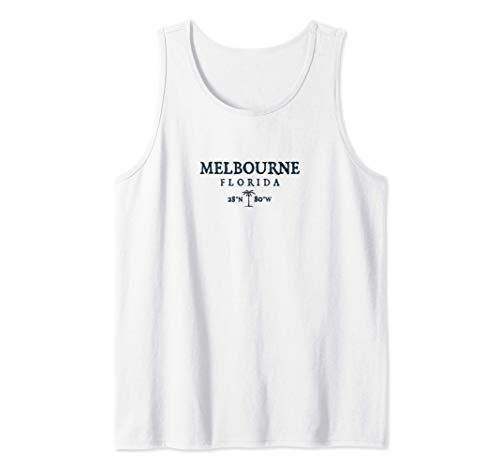 Regalo de Melbourne Florida Palm Tree Surf Beach Camiseta sin Mangas