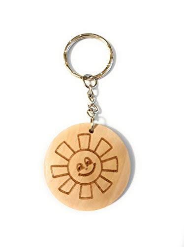Schlüsselanhänger Holz Sonne, Holzgeschenke