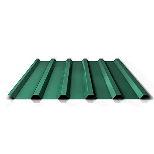 Trapezblech | Profilblech | Dachblech | Profil PS35/1035TR | Material Stahl | Stärke 0,40 mm | Beschichtung 25 µm | Farbe Chromoxidgrün