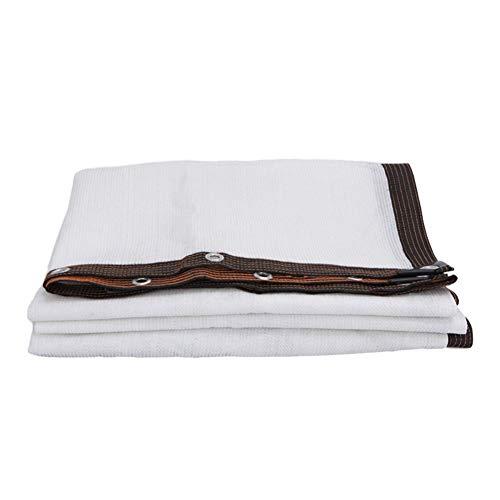 Weiße Sonne Schatten Tuch Hemming perforiert Es Gilt Net Veranda Verandaschaukel Gazebo Carport Haus Patio Netz (Size : 6x10Meter)