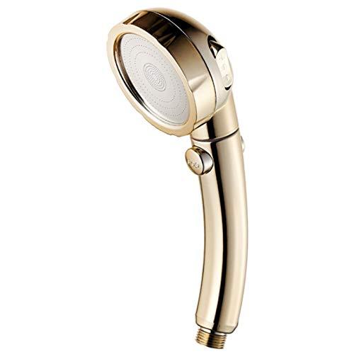 YSQSPWS Alcachofa de Ducha 3 en 1 Cabezal de Ducha de Alta presión de la Ducha de la Ducha del hogar pulverizador de baño baño portátil portátil 360 Grados girando Cabezas de Ducha (Color : Gold)