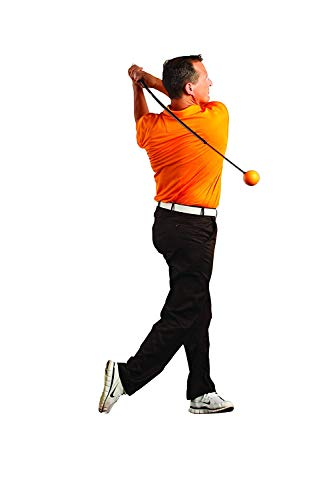 """Orange Whip Full-Sized Golf Swing Trainer Aid - for Improved Rhythm, Flexibility, Balance, Tempo, and Strength - 47"""""""