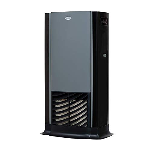 AIRCARE D46 720 Tower Evaporative Humidifier for 1200 sq. ft, Titanium/Black